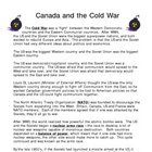 Canada and the Cold War CHC2P Overhead Note