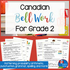 Canadian Bell Work for Grade 2