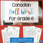 Canadian Bell Work for Grade 6