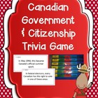 Canadian Government &amp; Citizenship Trivia Game