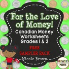 Canadian Money Worksheets - Freebie!