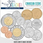Canadian Money and Coins Clip Art