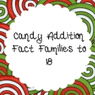 Candy Addition Fact Families up to 18