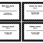 Candy Bar Awards- Polka Dots