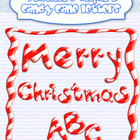 Candy Cane Alphabet {FREE FRAME INCLUDED}