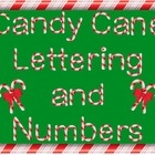Candy Cane Letters and Numbers Clip Art