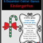 Candy Canes and Reindeer: 6 Common Core Center Games Kit