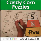 Candy Corn Number & Alphabet Puzzles { Simply Kinder }