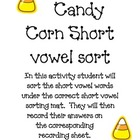 Candy Corn Short Vowel Word Sort