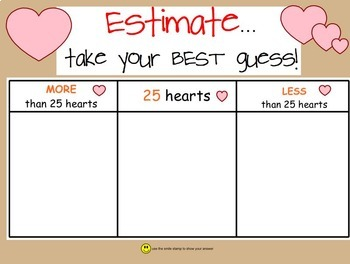 Candy Heart Math SmartBoard Lesson, Valentine's Day, Prima