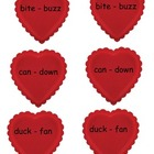 Candy Hearts Guide Word Practice
