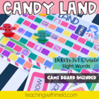 Candy Land Dolch First Grade Sight Word Game