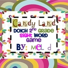Candy Land Dolch Second Grade Sight Word Game