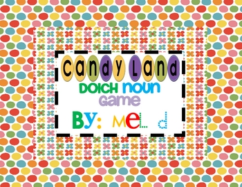 Candy Land Noun Game
