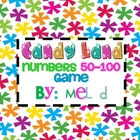 Candy Land Numbers 50-100 Game