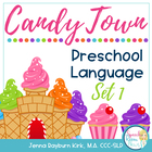 Candy Town Preschool Language Cards: Speech Therapy Activity