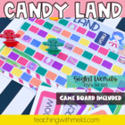 Candy Land Sight Word Game-Fry&#039;s 1st 100 HFW