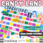 Candy Land Subtraction Facts Game