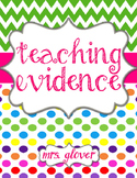 Candy Land Teaching Evidence Binder Covers - TESS