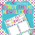 Candy Theme Newsletter Template- PUBLISHER file