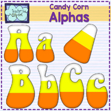 Candy corn alphabet clipart