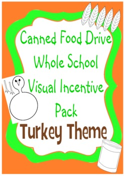 Canned Food Drive Whole School Visual Incentive - Turkey Theme