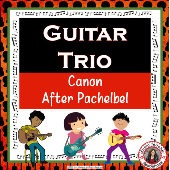 'Canon after Pachelbel' Instrumental - for easy Guitar trio