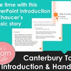 Canterbury Tales Introduction PowerPoint with Handout