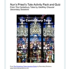 Canterbury Tales: Nun's Priest's Tale Activity Pack, Quiz,