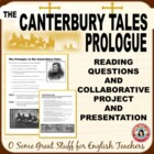 Canterbury Tales Prologue Individual and Group Activity