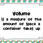 Capacity Volume Poster and Data Sheet
