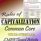 Capital Letters Common Core Smartboard Activity 22 pages