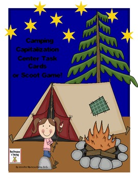 Capitalization Camping Scoot Game or Task Cards (Common Core)
