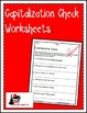 Capitalization Check Worksheet