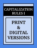 Capitalization I - Common Core Standards for 2nd - 4th Grades
