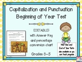 Capitalization and Punctuation Skills Assessment & Key {Be