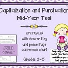 Capitals and Punctuation Mid-Year Skills Assessment Grades 3-6