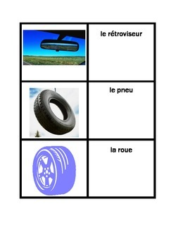 Car parts in French concentration game