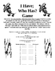 Card Game: I Have / Who Has Simple Machines - review, vocabulary