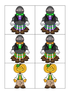 Card Matching- Halloween