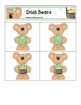Card Matching- St. Pat's Bear