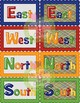 Cardinal Directions Primary Posters