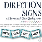 Cardinal &amp; Ordinal Direction Signs in Chevron