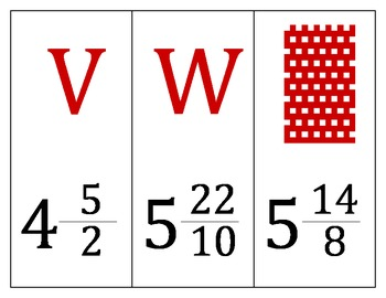 Cards Around The Room Activity (Use Before Adding Mixed Numbers)