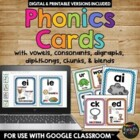 PHONICS Cards & Posters, PHONOGRAMS, Blends, Digraphs, Chu