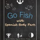 Cards for Go Fish with Spanish Body Parts
