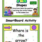 Carnival Fun Shapes SmartBoard Activity