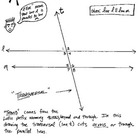 Cartoon Notes and Practice - Angles, Parallel Lines & Tran
