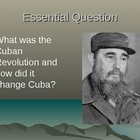 Castro and the Cuban Revolution - Presentation, Handout, S