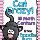 Cat Crazy! 15 Math Centers - Numbers, Telling Time, Money,